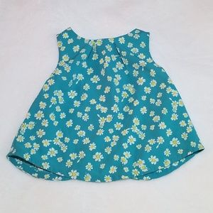 OLD NAVY Blue Daisy Baby Girl Top
